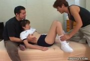 Japanese coed gets pussy abused at school