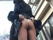 Sexy Asians Kissing Outside