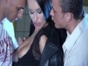 Claudia Adams looks so amzing with two cocks in her