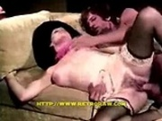 Retro fuck in a couch