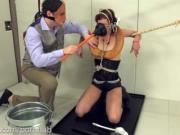 Dominatrix turned into toilet, then assfucked and fed cum