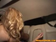 Chick sucks and rides cock
