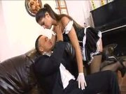 Latina Maid Takes One in Every Hole