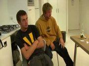 Aussie amateur pals James & Dillian go gay-for-pay.
