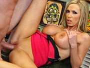 Nikki Benz tattoo parlor dick riding