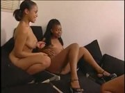 sexy sistas starp-on threesome real nice
