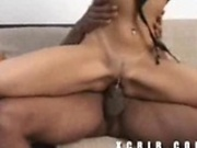 Carly gets her pussy eaten and pounded by a big black cock