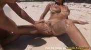 Big natural tits beach sex