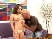 Holly gets dicked right in front of her man!