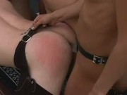 Strap-On Cowgirls Fuck Farmhand