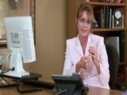 Samantha Stone Office Masturbation