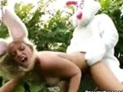 The Easter Bunny is fucking girls for cash