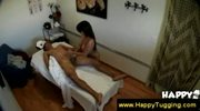 Tugjob and blowjob from Asian masseuse