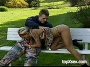 Couple fucking in park