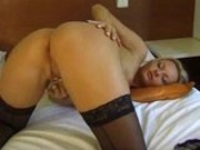 Horny girl fucks herself