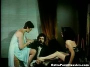 Retro Asshole Humiliated in FFM Threesome