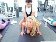 Tanya James Gets Taught How To Do Sit-Ups On A Dick