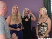 3 Blonde MILFs Have Full-on Orgy!