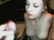 Sexy Girl Swallowing Cum
