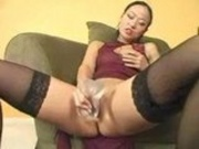 Niya prepares her pussy for a big black cock