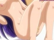 Sexy anime babe making love