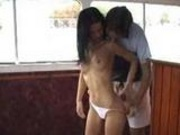 Very tight girl and a big dick on the boat