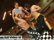 BigCock Threesome on Go Kart Track