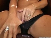 Horny Mature Slut Masturbates Before Blowjob