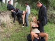 Hot orgy in the park!