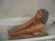 Oma enjoys her bath