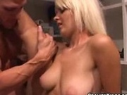 Nikita gets cum all over her