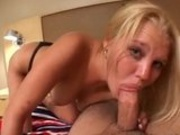 Blonde Hailey Sucks Dick Til Messy Cumshot