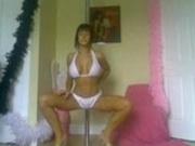 Busty stripper works it on cam!