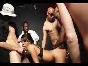 Asa Akira takes 7 guys