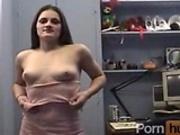 Flat cheast pussy rubb