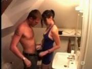 Hot escort satisfies her customer