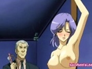 Busty hentai babe gets masturbated