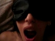 Hot blindfolded Girl Gets Huge Cumload In Her Mouth And Her Face
