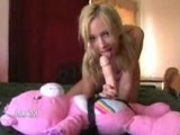 Teen has the weirdest fantasy with her teddy bear