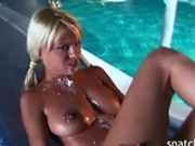 Anal action by the pool