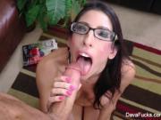Dava Foxx Gets Cum On Her Glasses