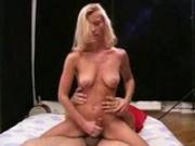 She rubbs it then fucks it
