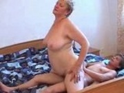 Ugly Granny And Her Man Having Fun