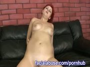 Redheaded Slut Sucks And Fucks A Rough Stud