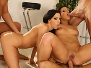 Tight euro babes ass rammed and deeptroated WOW!