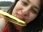 A Gold Brunette Teen