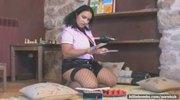 Latex skirt on hot chick