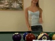 Want a blonde chick on a pooltable?