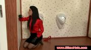 Defrancesca Gallardo at a gloryhole
