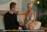 Sexy blonde Blake Rose fucks her boyfriend's son